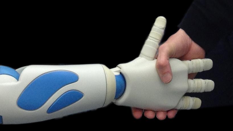 An uncanny valley of gestures: Robot Romeo's Handshake.