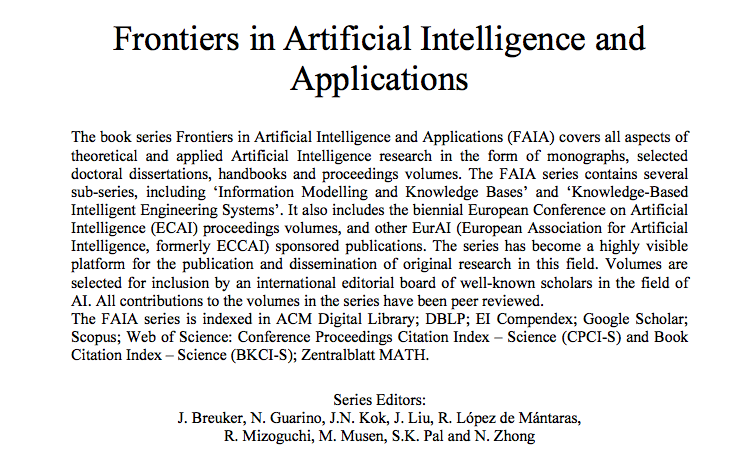 """""""An applied ethics to liaise humanoids with humans""""  publication at the Frontiers in """"Artificial Intelligence and Application"""" Series"""