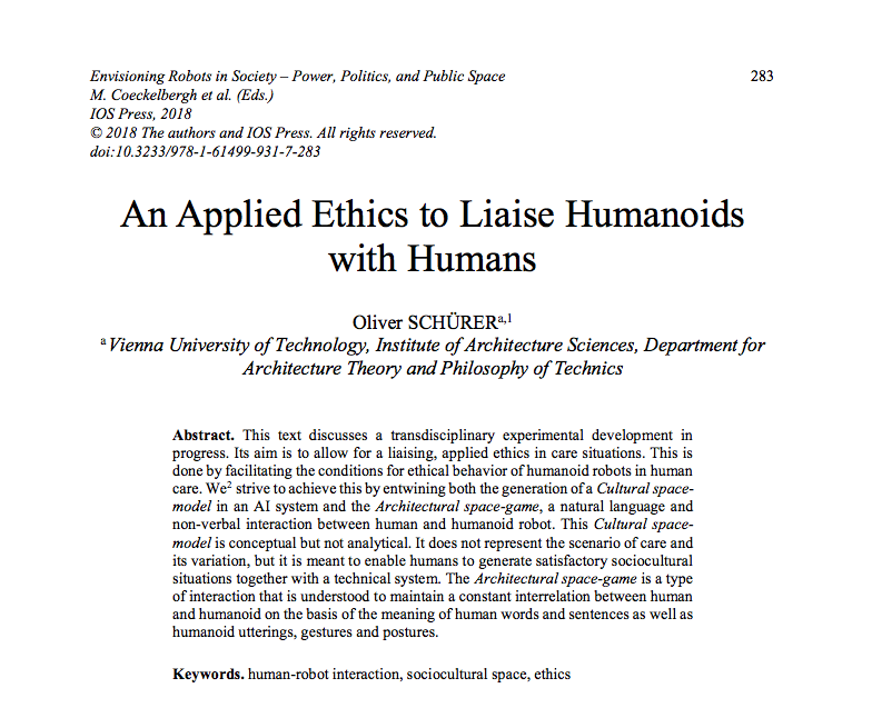 An applied ethics to liaise humanoids with humans